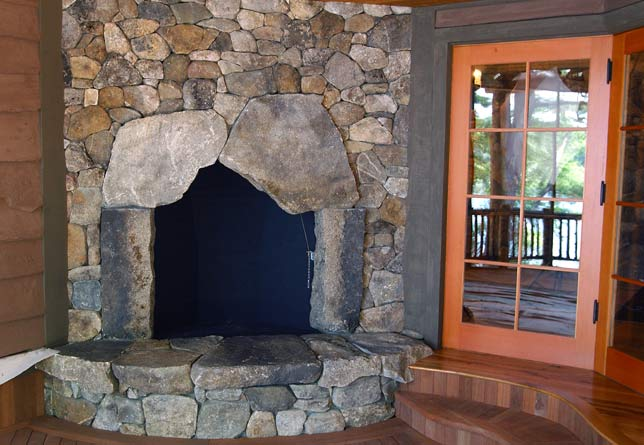 giant fieldstone fireplace | Photo Gallery: Stone Age Design, LLC: NH Stone Mason ...