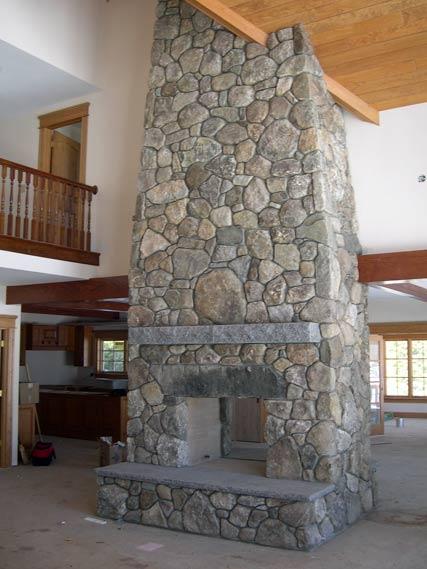 Field Stone Fireplace photo gallery: stone age design, llc: nh stone mason, stone walls