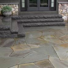 ... Large Irregular Shaped Bluestone Patio Set In Stone Dust, With  Caledonia Granite Steps ...