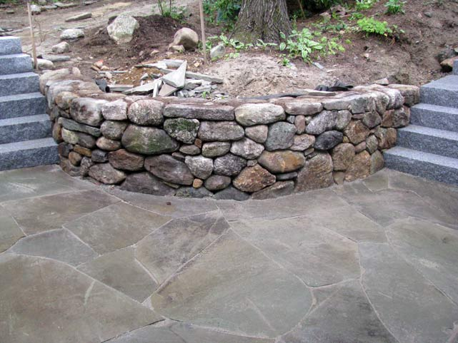 Fieldstone Rock Patios : Walls specialty stonework photo gallery stone age