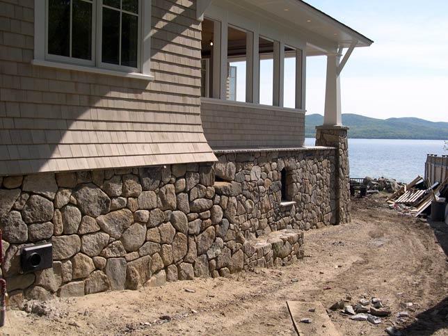 Stone veneer photo gallery stone age design llc stone mason rock walkways walls patios - Houses with stone veneer facades ...