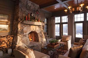 Rustic Stone Fireplace Mesmerizing Rustic Stone Fireplaces  Home Design Inspiration